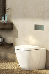 CONCEALED CISTERNS, feature a hidden cistern that can be serviced through the button panel.