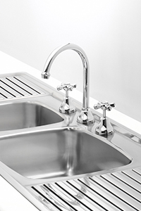KITCHEN SINK TAPS, include sink mounted taps for three taphole sinks or wall mounted tapware for sinks without tapholes.