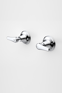 WALL TOP ASSEMBLIES, wall mounted taps that can be used with a shower head or bath spout