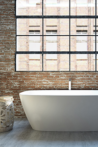 SOLID SURFACE BATHS have a seamless nature and the surface finish makes them resistant to bacteria and staining.