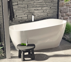 Create a bathroom inspired by nature