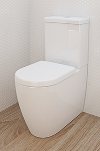 WALL FACED TOILETS, the most distinct feature is that the back of the pan sits flush against the wall, creating a seamless finish and streamlined look.