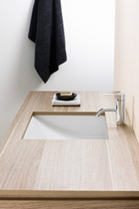 UNDER COUNTER BASINS, for showing off your bench top. This basin sits under the vanity level.
