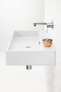 WALL HUNG BASINS, for the space saver. This basin is fixed directly to the wall, creating space underneath.