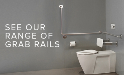 Grab Rails for AS1428 Compliant Bathrooms and Care Bathrooms by Caroma