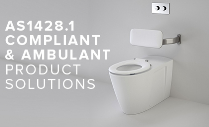 AS1428.1 and Ambulant Compliant Bathroom Solutions and Products from Caroma