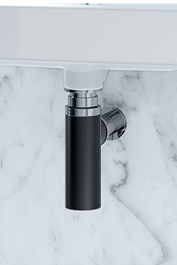 BOTTLE TRAPS replace the traditional plastic pipe work that appears below a wall basin, giving your wall basin a clean minimalist finish.