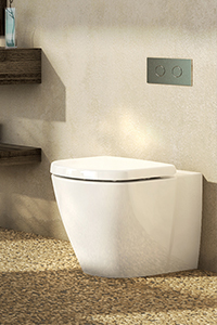WALL FACED PANS, fit flush against the wall and can either be matched with a concealed cistern or a suitable close coupled cistern.